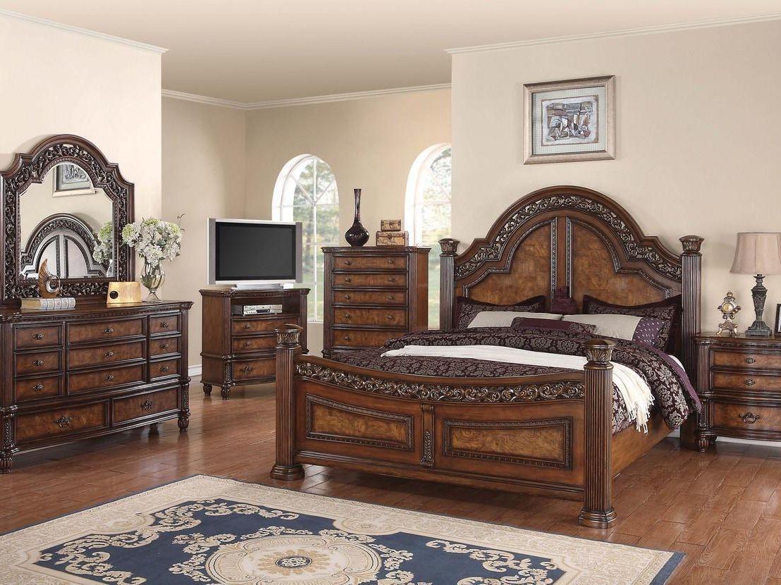 Caesar walnut wood bedroom