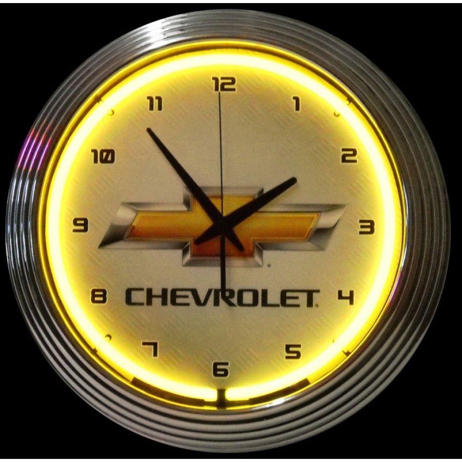 Neonetics Gm Chevrolet Yellow Neon Clock - 8CHVYY | Neon clock ...