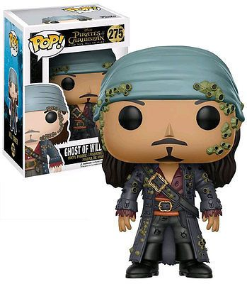 Funko Pop Disney Pirates Of The Caribbean Ghost Will Turner Figure w// Protector