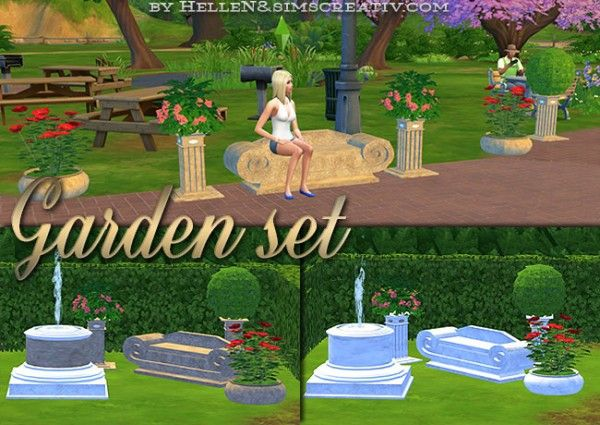 Sims Creativ: Garden Set by HelleN • Sims 4 Downloads