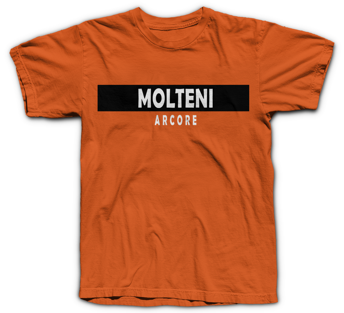 c47b5cc44 Shout-out to the golden days of European  cycling! Molteni won 663 races  with such greats as Eddy Merckx   Gianni Motta. Molteni Arcore T-Shirt ...