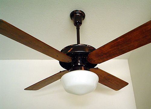1920 31c emerson electric company of st louis mo usa 56 emerson electric company of st antique ceiling fan with light fitter full copper oxide finish mozeypictures Choice Image