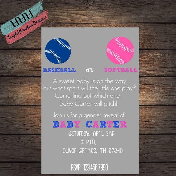 10 Baseball Or Softball Ideas Baseball Gender Reveal Reveal Parties Baby Gender Reveal Party