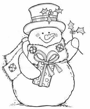 Muneco Nieve Christmas Colors Christmas Coloring Pages Christmas Stamps