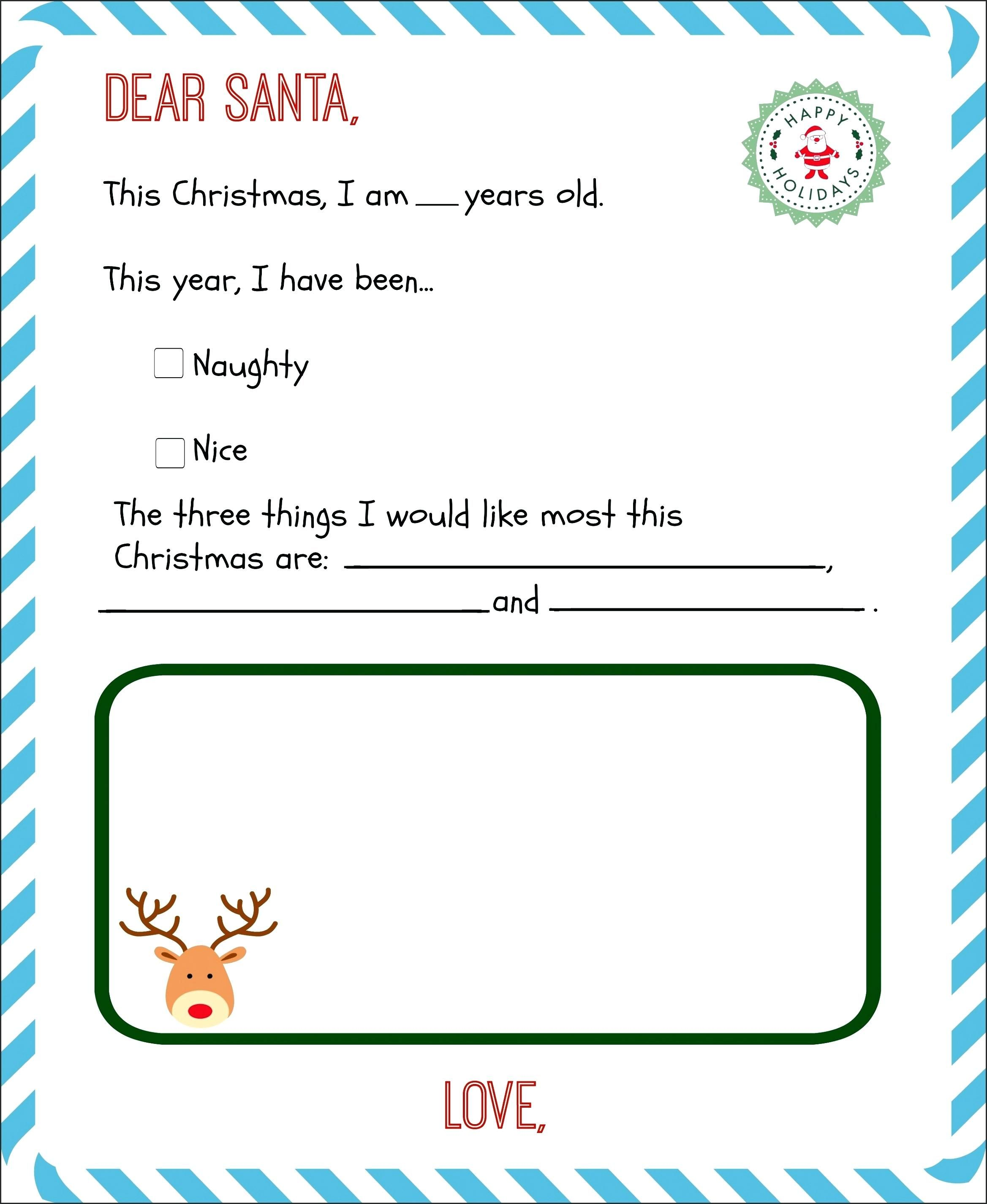 Funny Christmas Letter Template Inspirational List Printable