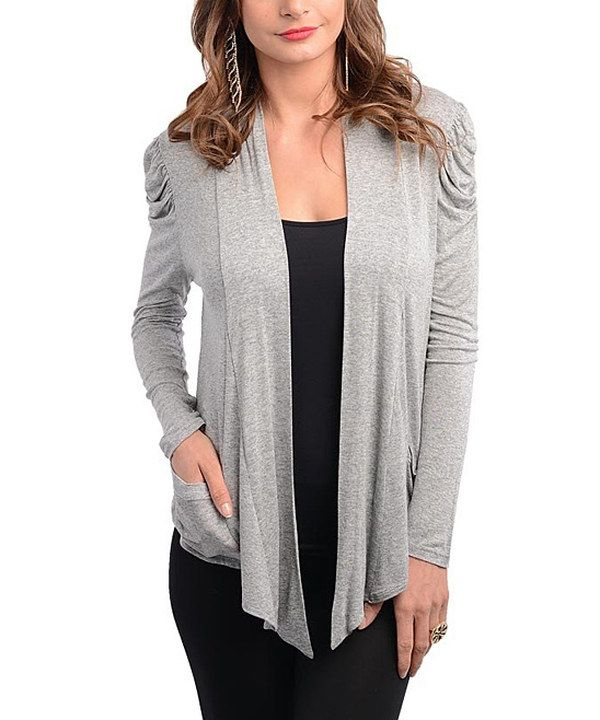 Take a look at this Gray Open Cardigan on zulily today!
