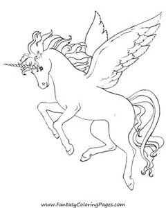 Unicorn Pegasus Coloring Pages For Free Unicorn Pegasus Coloring