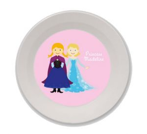Personalized Snow Princess and Snow Queen Bowl