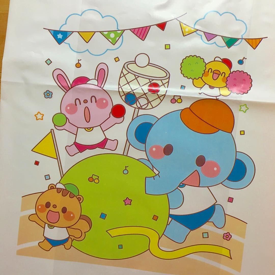 運動会プレゼント用袋のお仕事をしました(o^^o) 幼稚園や保育園の運動会