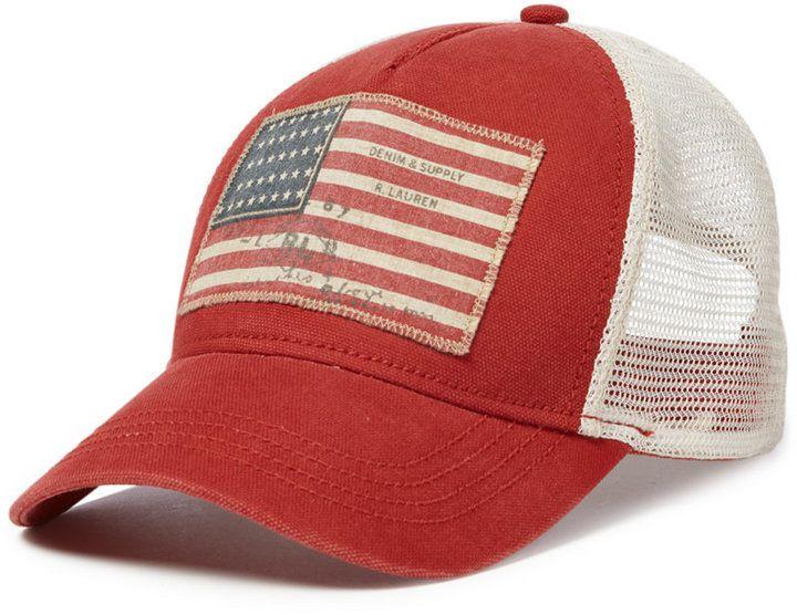Denim & Supply Ralph Lauren Men's American Flag Baseball Cap. https://api.shopstyle.com/action/apiVisitRetailer?id=518876618&pid=uid8100-34415590-43