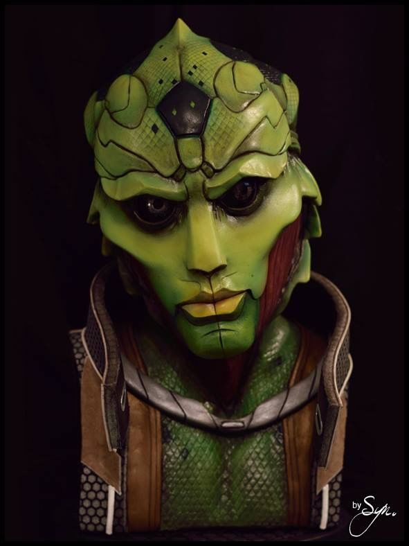 Thane Krios from Mass Effect - Plastiroc lifesize bust by Thomas Buhan (Syn)
