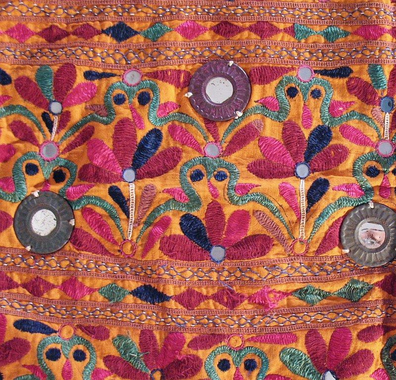 Indian Tapestry Wall Hanging details about banjara rare mirror kutch indian wall hanging