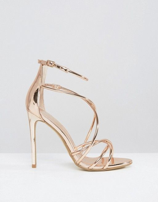 491ed0ed60d Office | Office Spindle Rose Gold Mirror Strappy Heeled Sandals ...