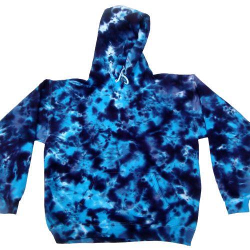 Multi-Color Tie Dye Hoodie Sweats S-3XL Long Sleeve Pockets Cotton Colortone