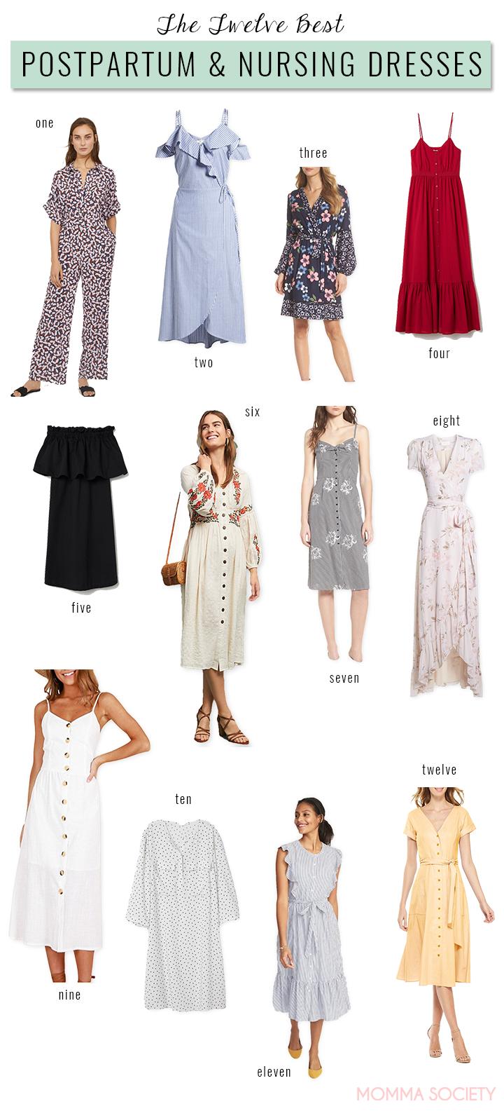The Best Nursing Postpartum Dresses For The Modern Momma Momma Society Nursing Friendly Dress Postpartum Dresses Post Partum Outfits