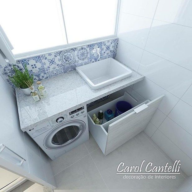 Fabuloso Projeto para lavanderia pequena da arquiteta Carol Cantelli Bacana  VS74