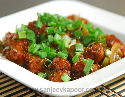 Potato manchurian balls recipe deep fried potato cubes rolled in how to make potato manchurian balls recipe by masterchef sanjeev kapoor forumfinder Images