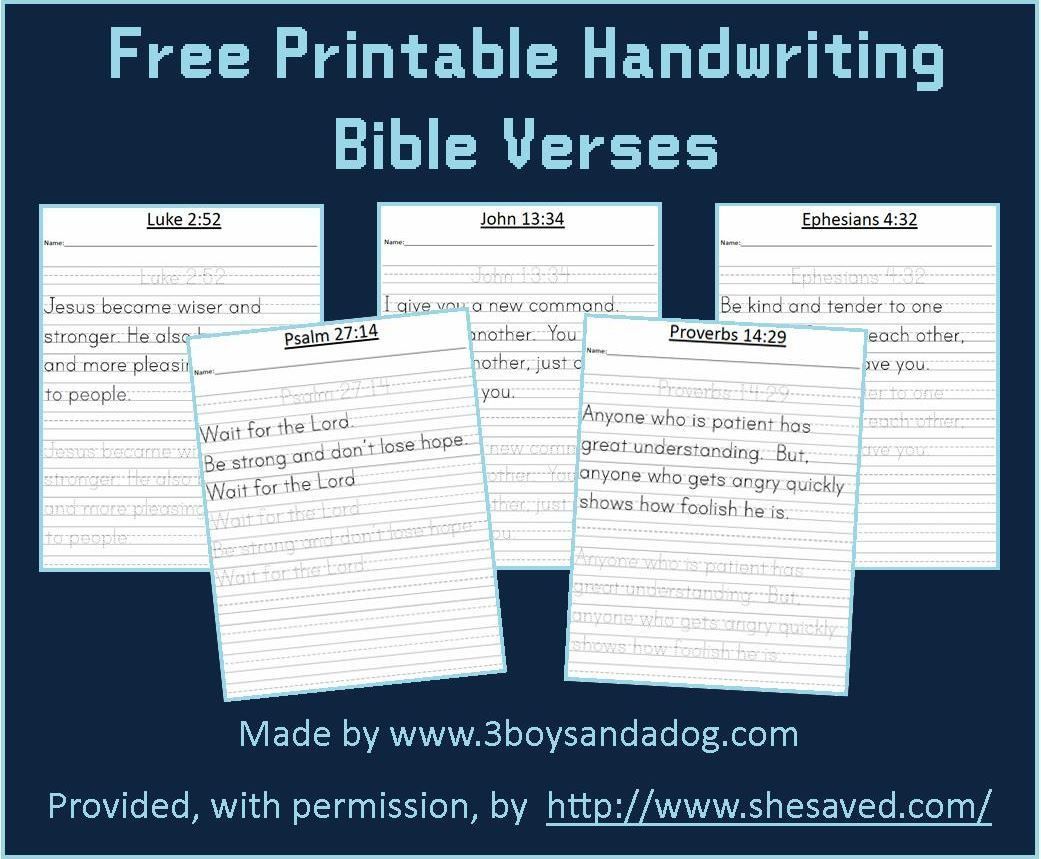 free printable bible verses kids printable bible verses handwriting practice bible for kids. Black Bedroom Furniture Sets. Home Design Ideas