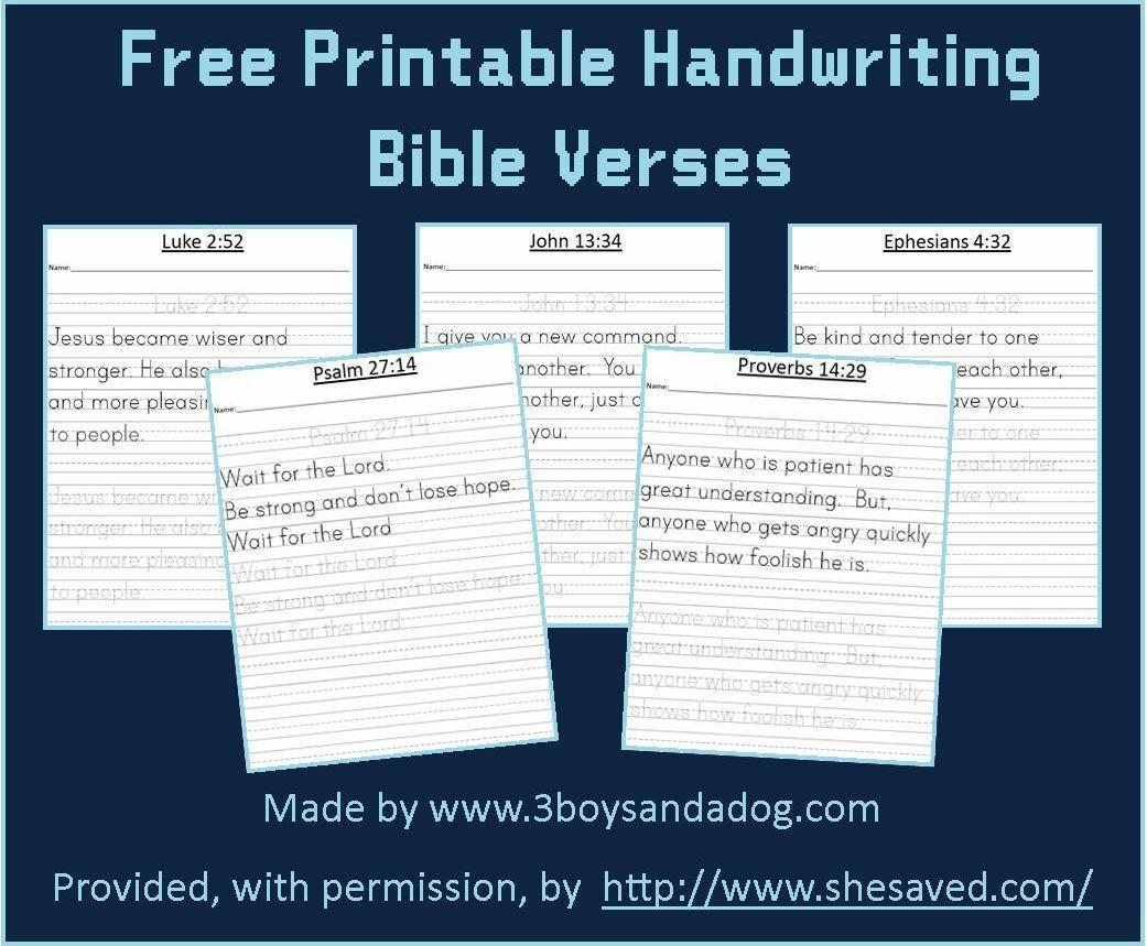 free printable bible verses handwriting practice free printable
