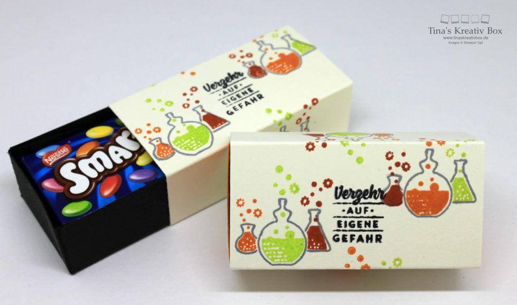 Halloween Woche Mini Smarties Box Basteln Halloween Karten Basteln Kleine Geschenke
