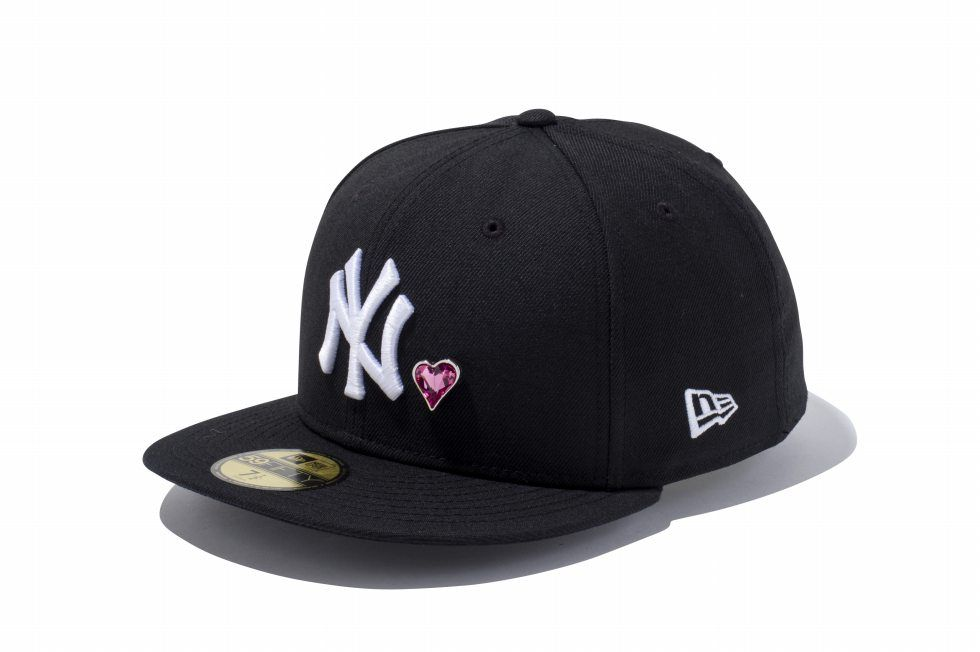 3c3a5f10f New York Yankees Crystal Heart 59Fifty Fitted Baseball Cap by NEW ...