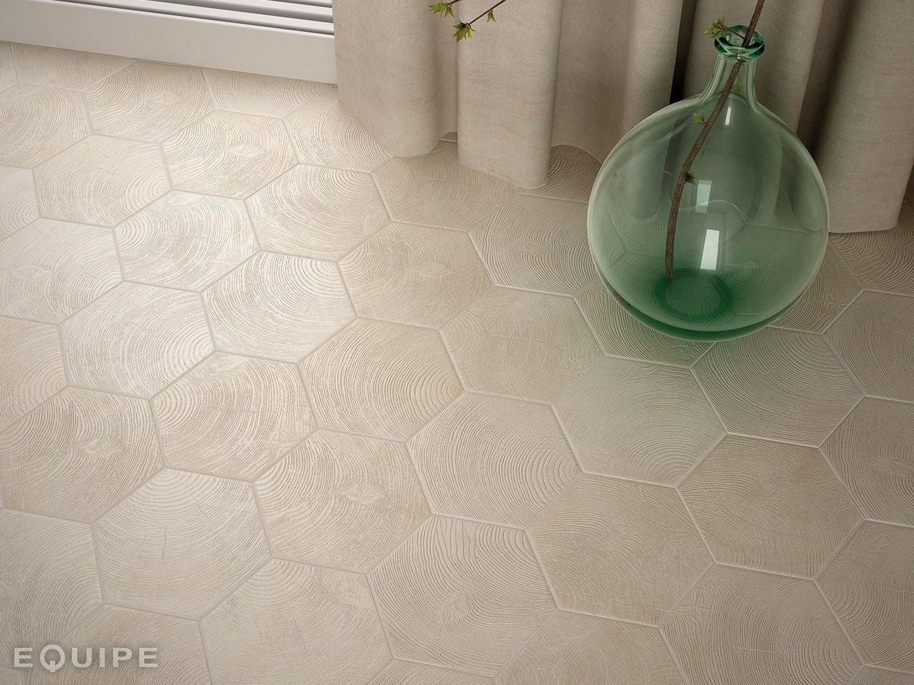 Ceramic flooring HEXAWOOD by EQUIPE CERAMICAS