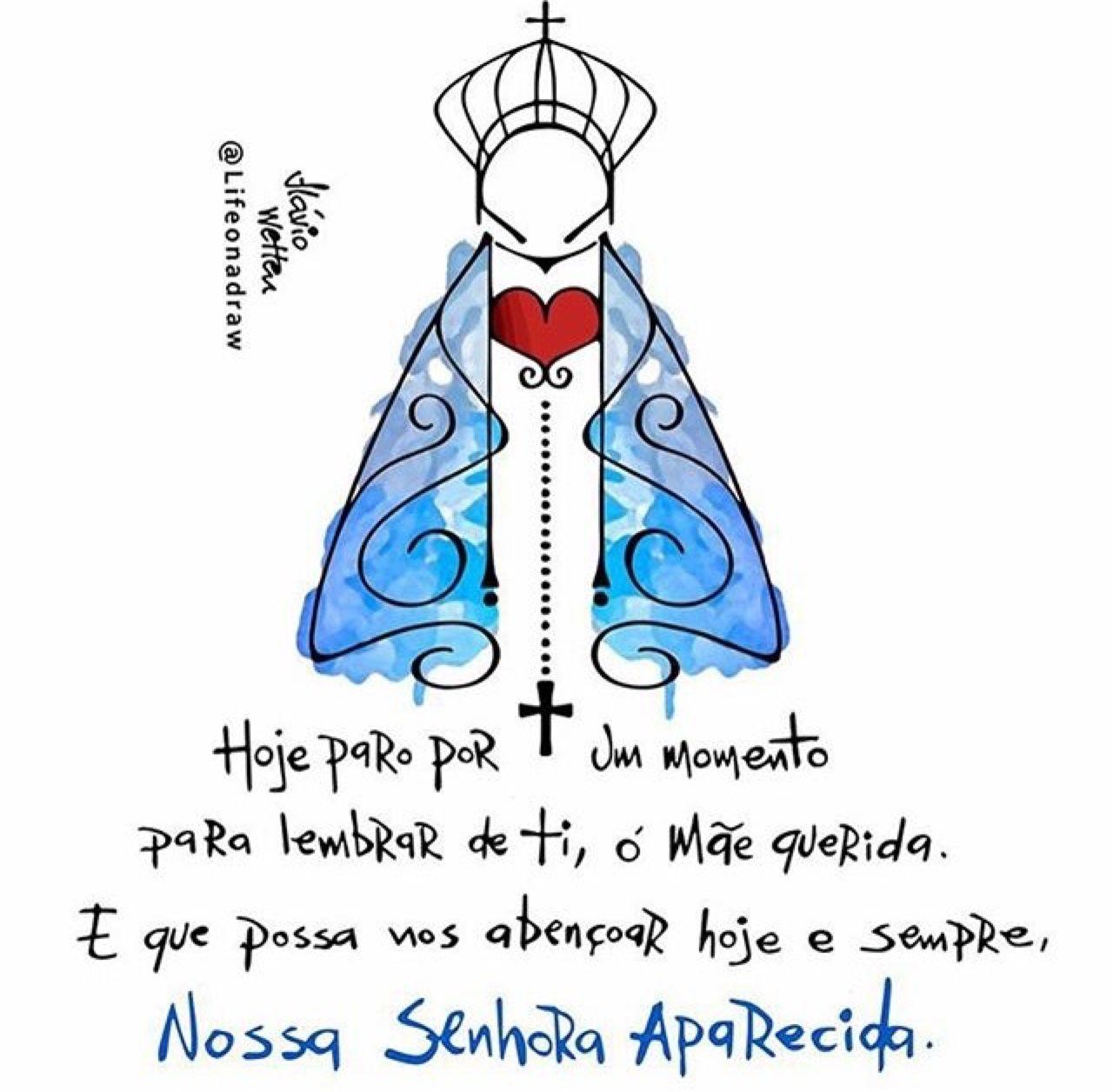 Nossa Senhora Aparecida Tumblr Frases Católicas Pinterest