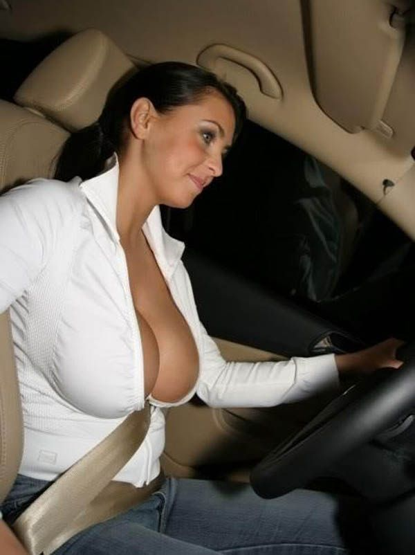 Biggest Boobs Shaking on Car Riding - YouTube