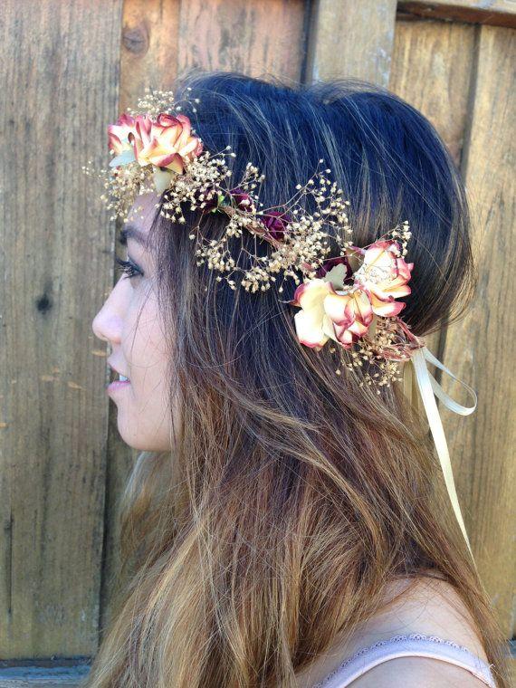 Floral festival headband by Bossygirloriginals on Etsy