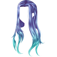 Tie Dye Flexible Azul Claro Anime Hair Manga Hair Chibi Hair