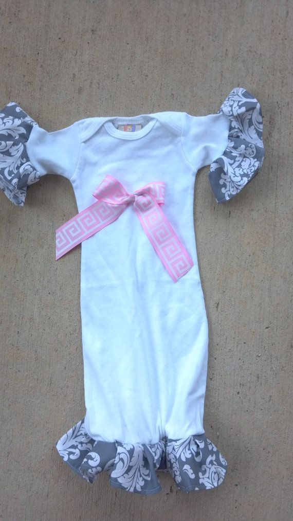 Custom size Boutique Baby layette wholesale gown shower ruffles ...