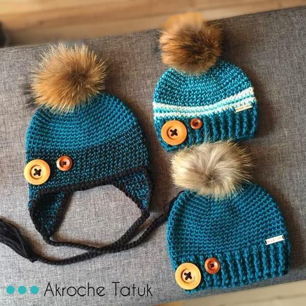 crochet hat pattern patrons tuques au crochet | Crochet Patterns ...