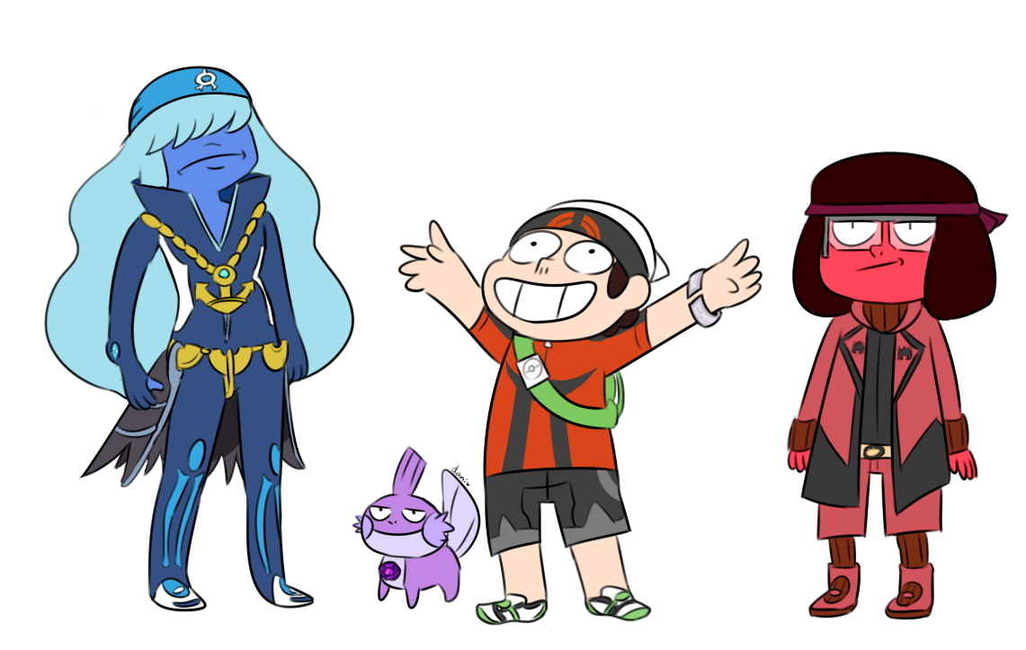 Pokemon Trainer Ruby Steven With Maxie Ruby Archie