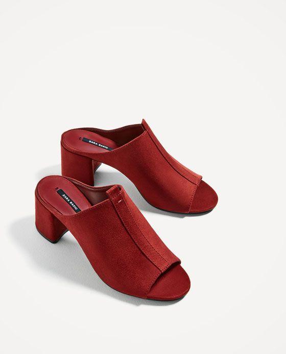 76d1c2fdd65 ZARA - WOMAN - HIGH HEEL BACKLESS SHOES Calzado Mujer