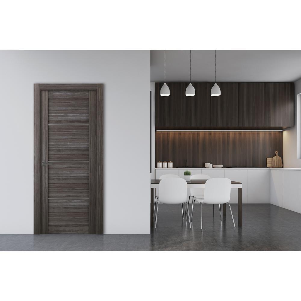 Belldinni 36 In X 80 In Nika Gray Oak 7 Lite Frosted Glass Right Hand Solid Core Composite Single Prehung Inte In 2020 Doors Interior Prehung Interior Doors Interior
