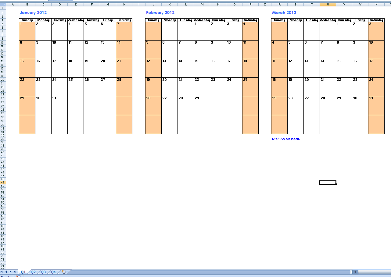 Basic Calendar Template Preview   Stuff For Mom