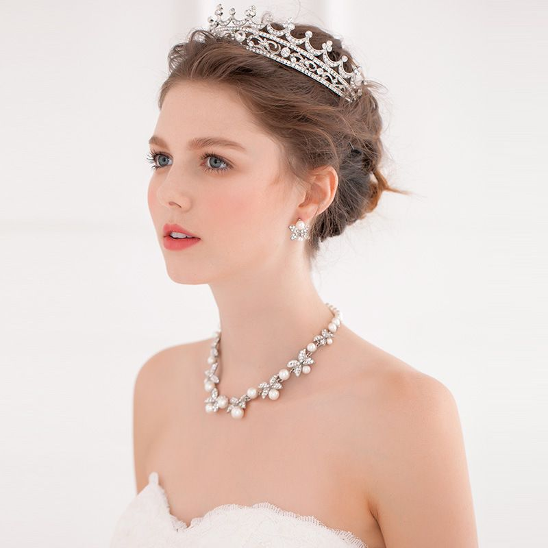 Hairstyles With Crown Queen: Prom Queen Crystal Rhinestones Crown Tiara