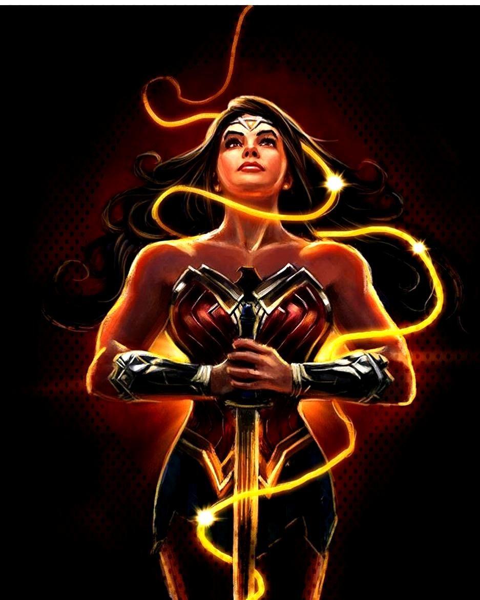 Wonder Woman!! Art by @dizevez by heroic_comics