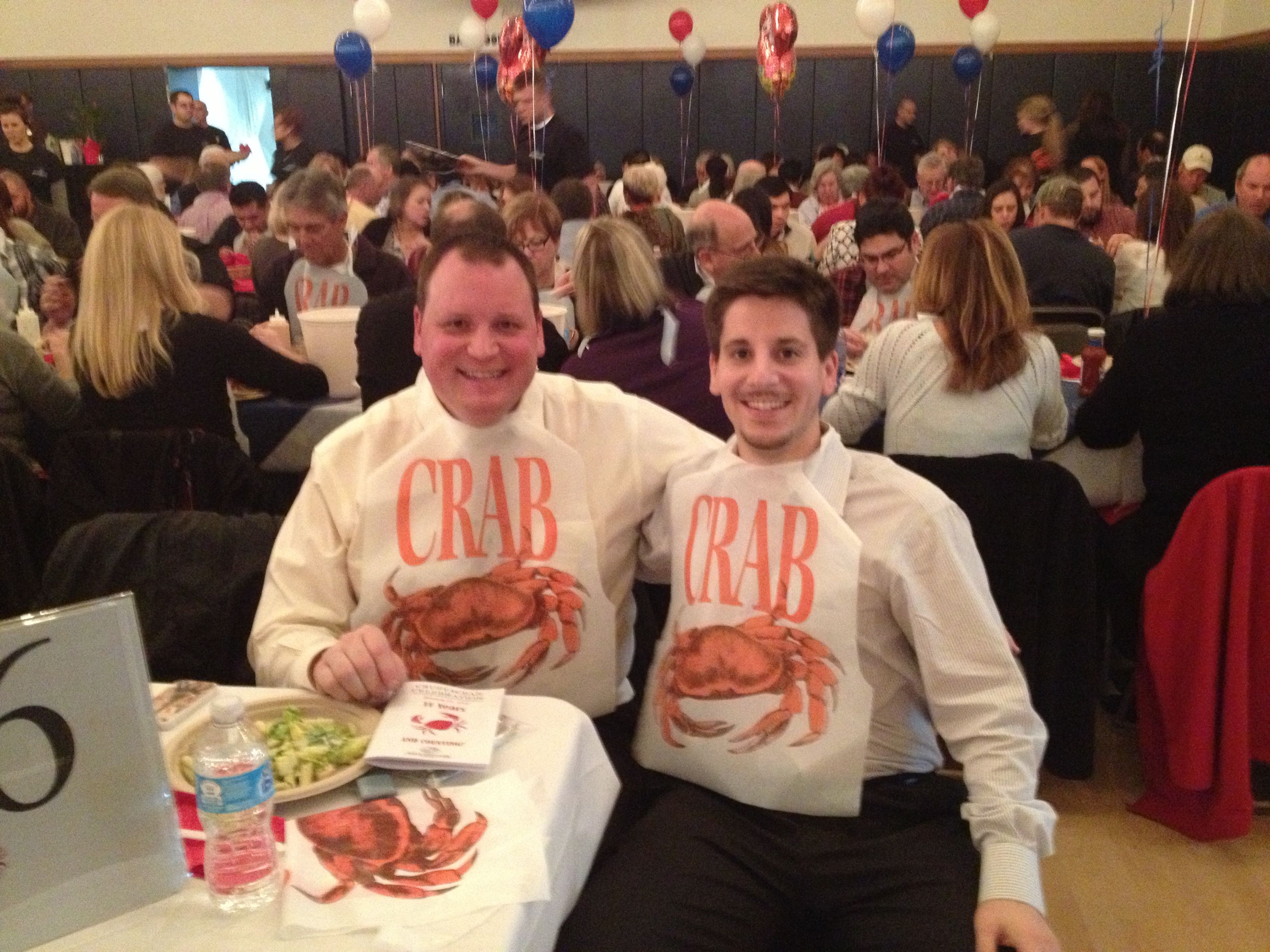 Hanging with George Haris from Assemblyman Levine's Office in support of the Boys & Girls Club at their 11th Annual Crab Feed fundraiser.