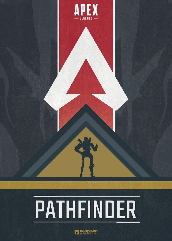 "Apex Legends Character Silhouettes Pathfinder #Displate explore Pinterest""> #Displate artwork by artist ""Jude Beavis"".… 