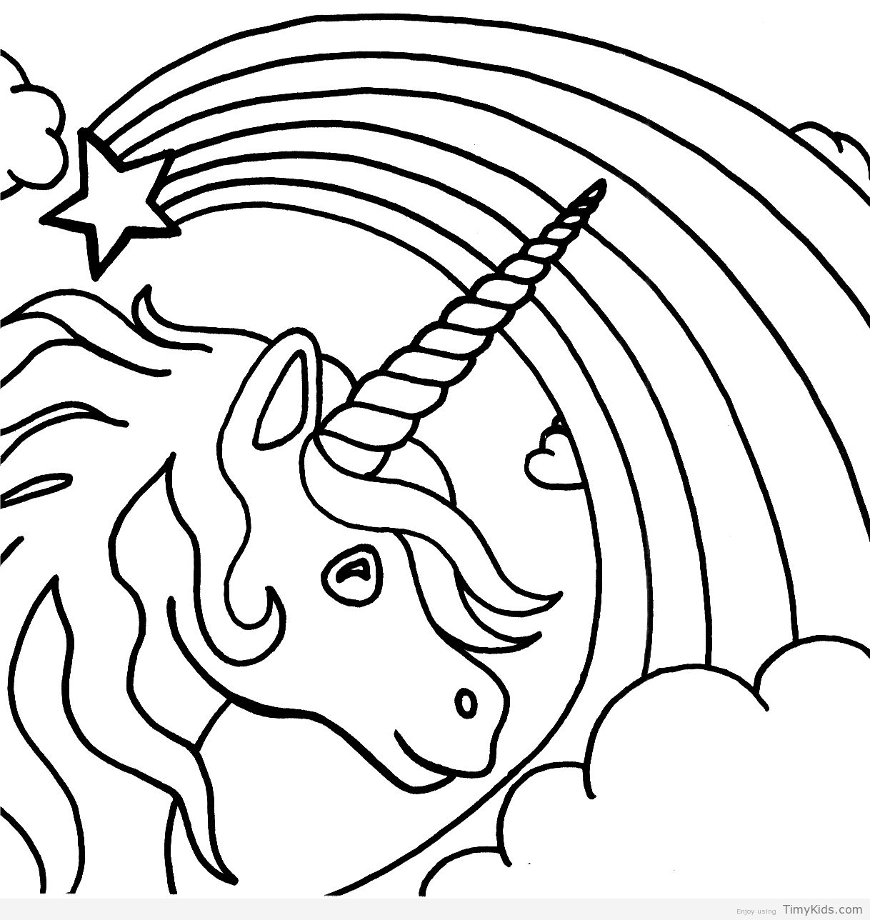 http://timykids.com/pictures-of-unicorns-to-color.html   Colorings ...