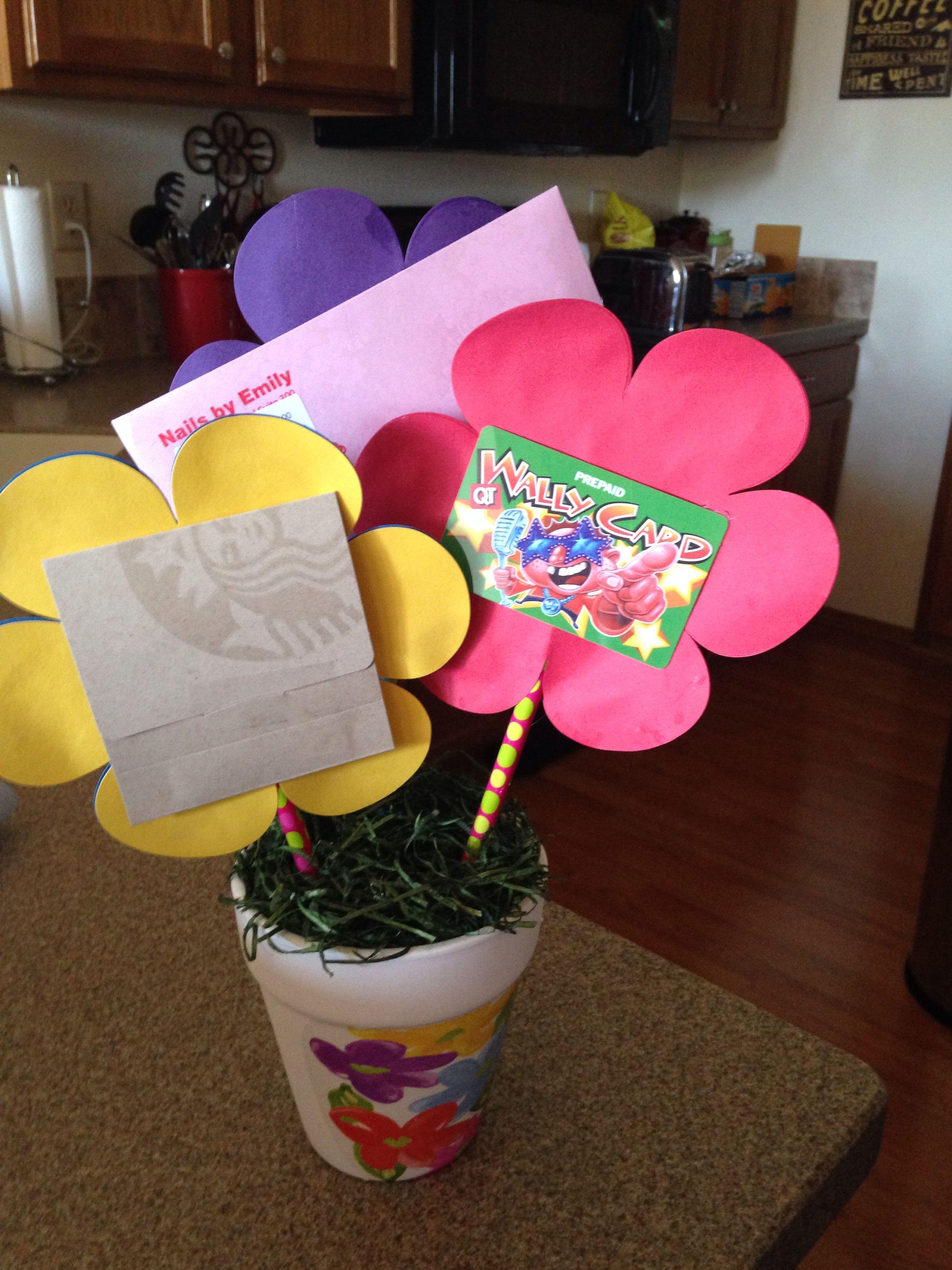 gift card bouquet for teacher