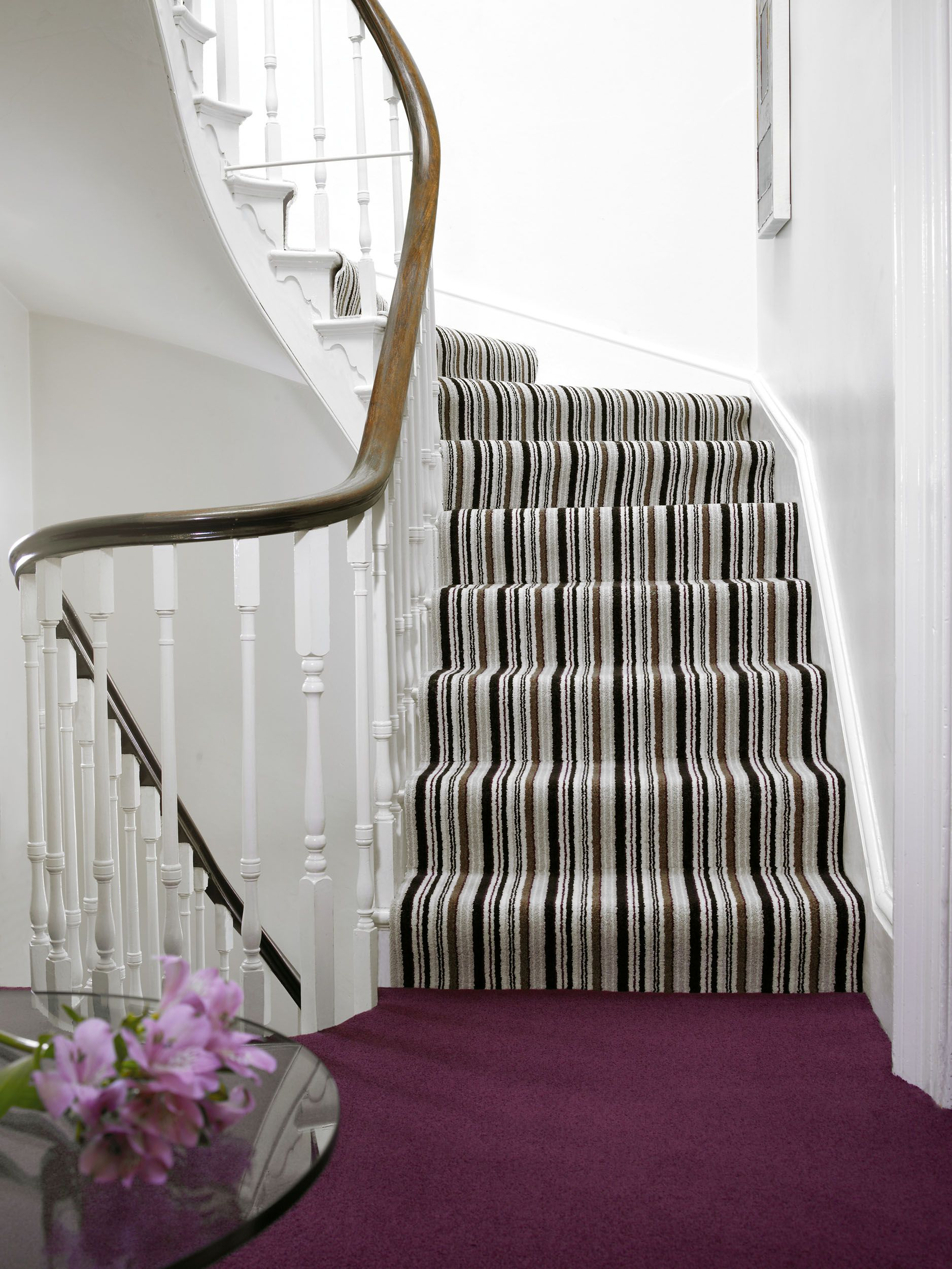 Vogue By Brockway Carpets Opulence Stripe On The Stairs