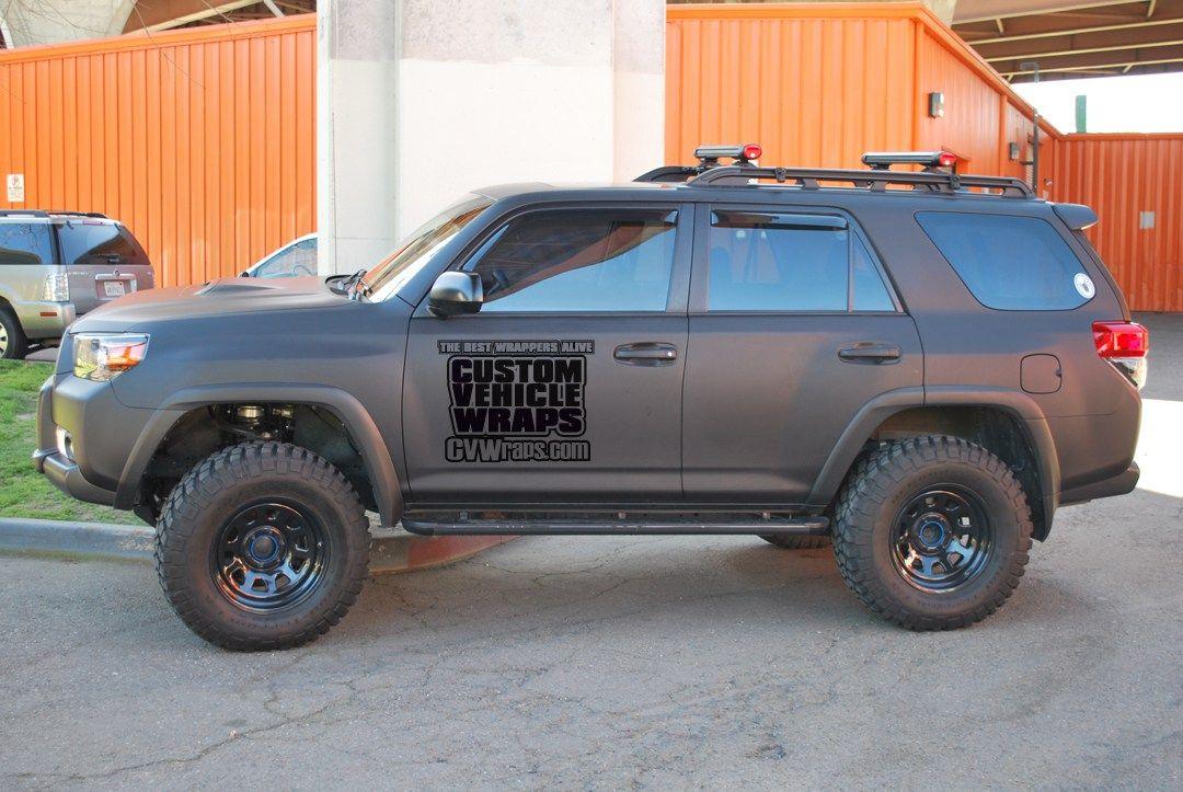 Matte Black Wrap Toyota 4runner Cars Pinterest Toyota
