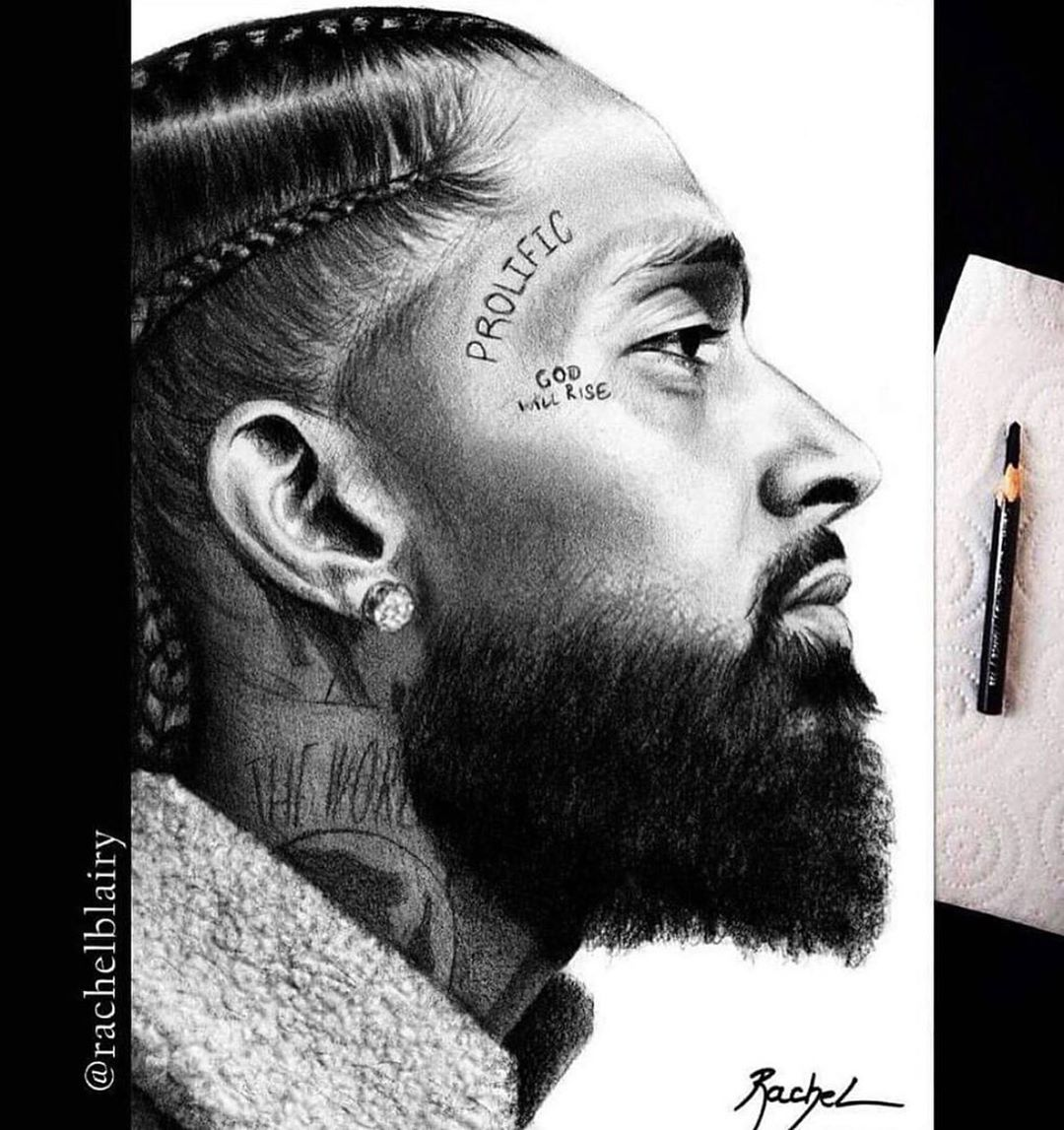 Nipsey Hussle Rip On Instagram Wow Rachelblairy Has Blown Me Away With This Drawing I Keep Getting Emotional When I See The Instagram Drawings Artistry