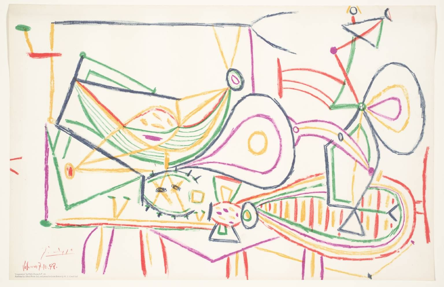 Pablo Picasso Composition Succession Picasso