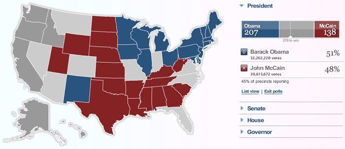 Msnbc Political Map.Msnbc 2008 Election Map Elections Maps Pinterest Election Map