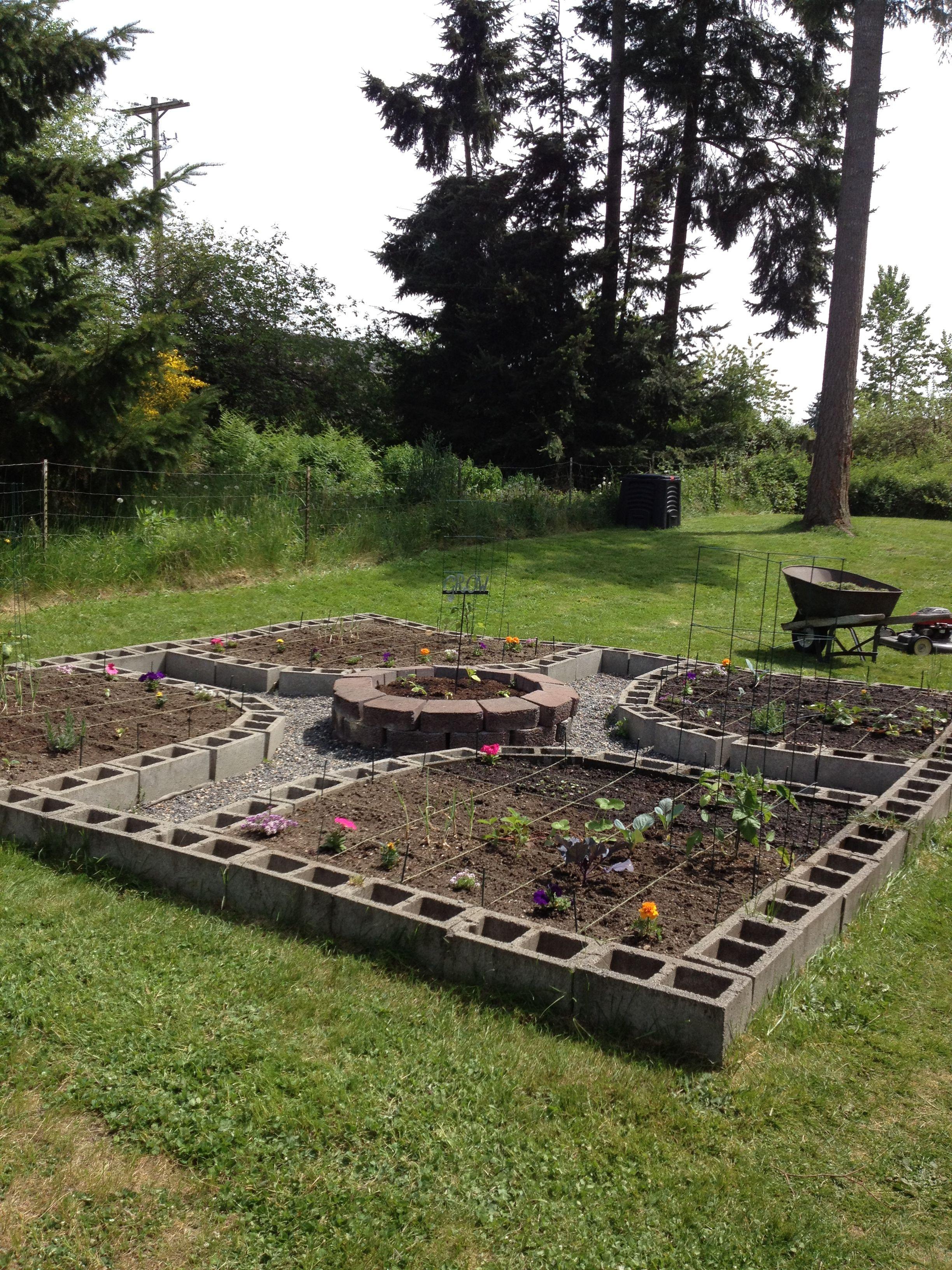 Dise o de la huerta con blocks huerta y jard n for Diseno de jardines caseros