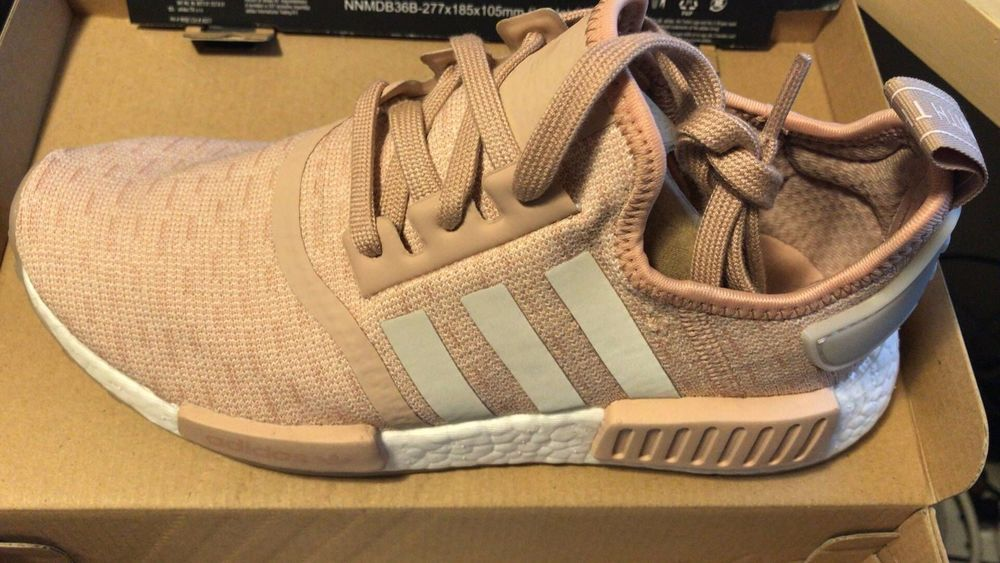 promo code a632a 69f1b Adidas NMD_R1 Runner W Nomad Women's Ash Pearl Chalk Pink 3M White CQ2012  Boost