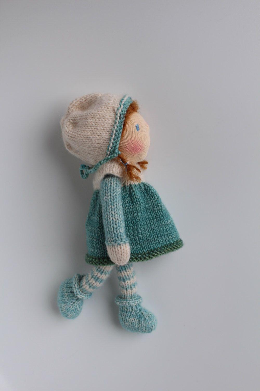 Waldorf doll, Waldorf knitted doll - Sarah - 20 cm / 8 ...